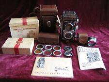 Vintage Rolleiflex Camera Heidosmat 2.0F 75mm Tessar 3.5 Rolleicord Plate Adap