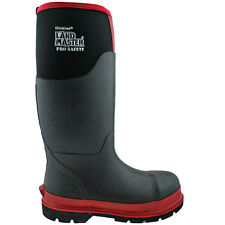 DICKIES LANDMASTER PRO SAFETY BLACK/RED REFLECTIVE NEOPRENE BOOTS WELLIES FW9902