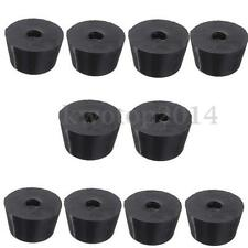 10x Black Rubber Instrument Case 17x10mm Table Desk Furniture Feet Leg Protector