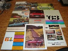 Original 1954-1990 Chevrolet Corvette Sales Brochure Lot of 66 Chevy Vette