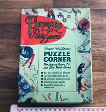 PUZZLE CORNER RADIO TV & FILM Vintage 1950s Boxed PEPYS 2-12 Players Party Game
