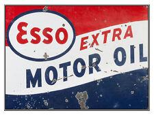Esso Extra Motor Oil, Retro Metal Plaque/Sign, Man Cave, Garage, Novelty Gift