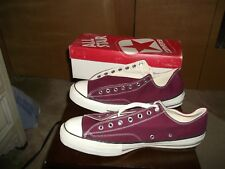 Vintage Men's Converse Maroon Chuck Taylor All Stars USA Made sz 14.5 in Box