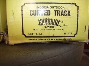 ARISTO-CRAFT G-SCALE BRASS TRACK#11805narrow gauge ties 161/2 diameter full box