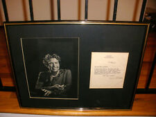 ELEANOR ROOSEVELT AUTOGRAPH RED CROSS LETTER SIGNED FRAMED WITH PHOTO AUTO