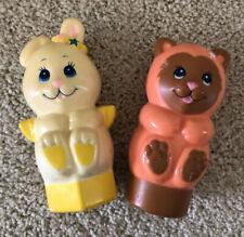 Vintage Mattel Angel Bunny Baby Rattles Bunny Bear