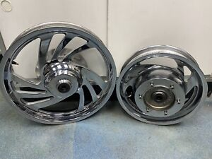 2009 Honda VTX1300C front and rear rims, OEM chrome wheels #41521