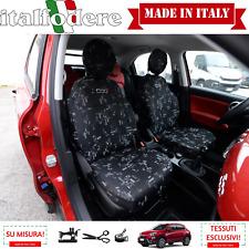 Schonbezüge Fiat 500X maßgeschniedert Sitzbezüge foderine komplett Grigio33