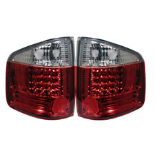 94-04 Chevy S10 GMC Sonoma Isuzu Hombre Red Clear LED Rear Tail Brake Lights Set