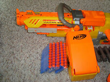 NERF VULCAN EBF-25 PULSE RIFLE CHAIN GUN 8 FEET TRIPOD, Belt, 25 BULLETS Tested