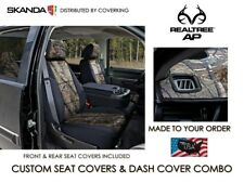 Coverking Realtree AP Camo Seat Covers Full Set & Dash Cover for Chevy Silverado