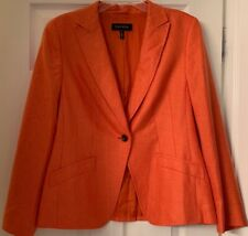 Escada women's Jacket coat Blazer Size 44 Apple Green Cutouts