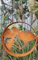 Eichhörnchen aus Edelrost zum Einschlagen Eisendeko Metall Gartendeko Tierfigur