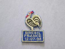Patch coq pour maillot équipe de France Brésil 1998 Flocage football shirt 98