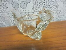 Vintage Avon Squirrel Clear Glass Votive or Tea Light Candle Holder Paper Weight