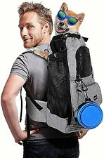 Dog Carrier Backpack, Multifunction Hiking Upgraded Double Uses Medium & Large