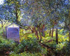 Claude Monet Print on CANVAS Giverny in Garden Wall Art Giclee Home Decor Small