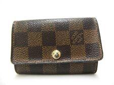 Authentic Louis Vuitton Key Case Hook Multicles 6 Damier Ebene N62630 Browns