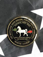 20th Special Forces Group Army Airborne Green Beret White Horse Challenge Coin