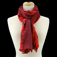Red and Black Chevron Fashion Scarf