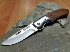 "Schrade Old Timer Back lock 7.5"" Knife Wood Stainless Folding Pocket EDC 1644b"