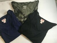 Lot Of 3 Women's Target Brand  Mossimo Tshirts Size Large Soft Knit
