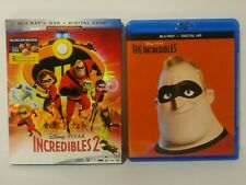 The Incredibles 1 & 2 Blu Ray Lot