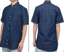 Dickies Men's WS300 RNB Denim Short Sleeve Button Down Work Shirt NWT Sz M-Tall