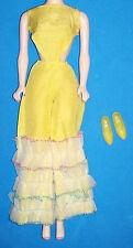 Vintage & MOD Barbie Caribbean Cruise #1687 Yellow Jumpsuit & Soft Japan Shoes