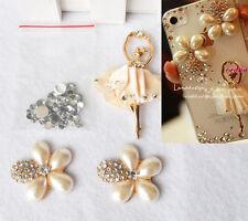 Yellow Dancing Ballet Girl Gem Flower Rhinestones DIY cell iPhone Case Deco Kit