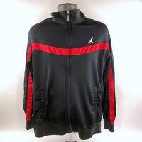 Nike Air Jordan Jacket Dri-Fit Black Red Track Basketball Warm Up Mens Large