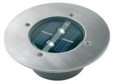 Foco solar Empotrable de suelo acero inoxidable redondo 0.06w Ranex
