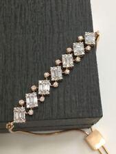 Pave 1.20 Cts Round Baguette Cut Diamonds Bracelet In Fine Hallmark 18Carat Gold