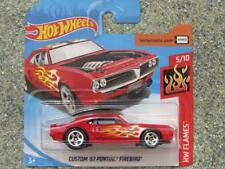 Hot Wheels 2018 #128/365 Custom '67 Pontiac Firebird Rouge Hw Flames