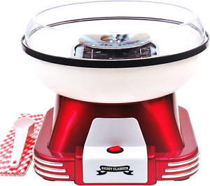 Gadgy Candy Floss Maker | Retro Cotton Candy Machine | Suitable for Sugar or | |