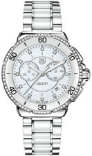CAH1213.BA0863 TAG HEUER FORMULA 1 LADIES CERAMIC LARGE WHITE DIAMOND WATCH