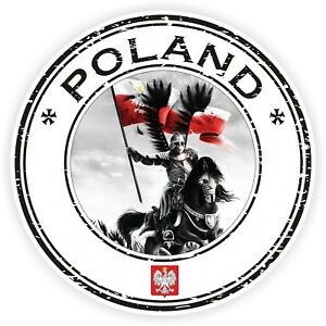 Seal Sticker of Poland Stamp Roundel for Bumper Laptop Car Truck Baggage #03