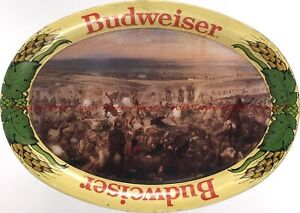 """1970s retro BUDWEISER BEER """"Custer's Last Stand"""" 6¼ inch Tip Tray Tavern Trove"""