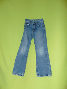 Childrens Place Boot Cut Jeans 6 Slim Boys Side Adjusters Ripped Belt Loop