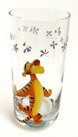 Disney Winnie The Pooh Glass Tumbler Tigger & Flowers Rounded Base Cup 16 oz