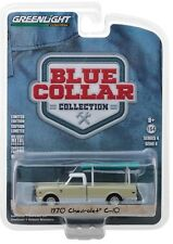 1:64 GreenLight *BLUE COLLAR 4* GREEN & WHITE 1970 Chevrolet C-10 w/LADDER *NIP*