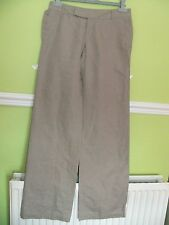 BNWOT NEW MEXX KHAKI summer LINEN  & COTTON  TROUSERS 8 10 PERFECT UNWORN look