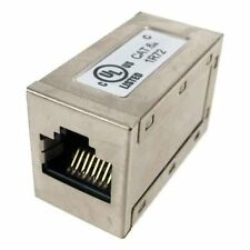 SF Cable CaT6A RJ45 Shielded FTP LAN Network Inline Coupler for Ethernet
