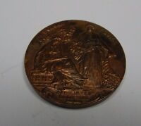 RHS Royal Horticultural Society Pomona Flora Medallion Engraved Hugglescote 45mm