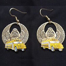 "School Bus Earrings - Wings With ""Bus Driver"" Medallions"