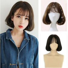 Lolita Bob Wig Short Curly Wavy Hair Thin Bangs Daily Costume Full Wig Cosplay