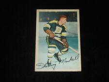 1953-54 Parkhurst Hockey Card-Fleming Mackell-Boston Bruins-#91-Weak EX