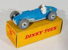 Dinky Toys 230 Talbot-Lago Racing Car. Blue. Rare Spun Hubs. Boxed. 1950's