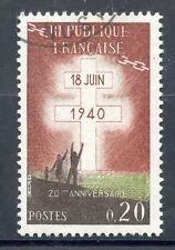 STAMP / TIMBRE FRANCE OBLITERE 1264  APPEL DU GENERAL DE GAULLE