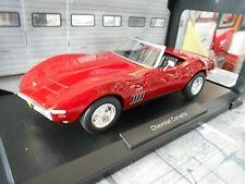 CHEVROLET Corvette C3 Singray Cabrio MK3 1969 Coupe V8 rot red NEU Norev 1:18